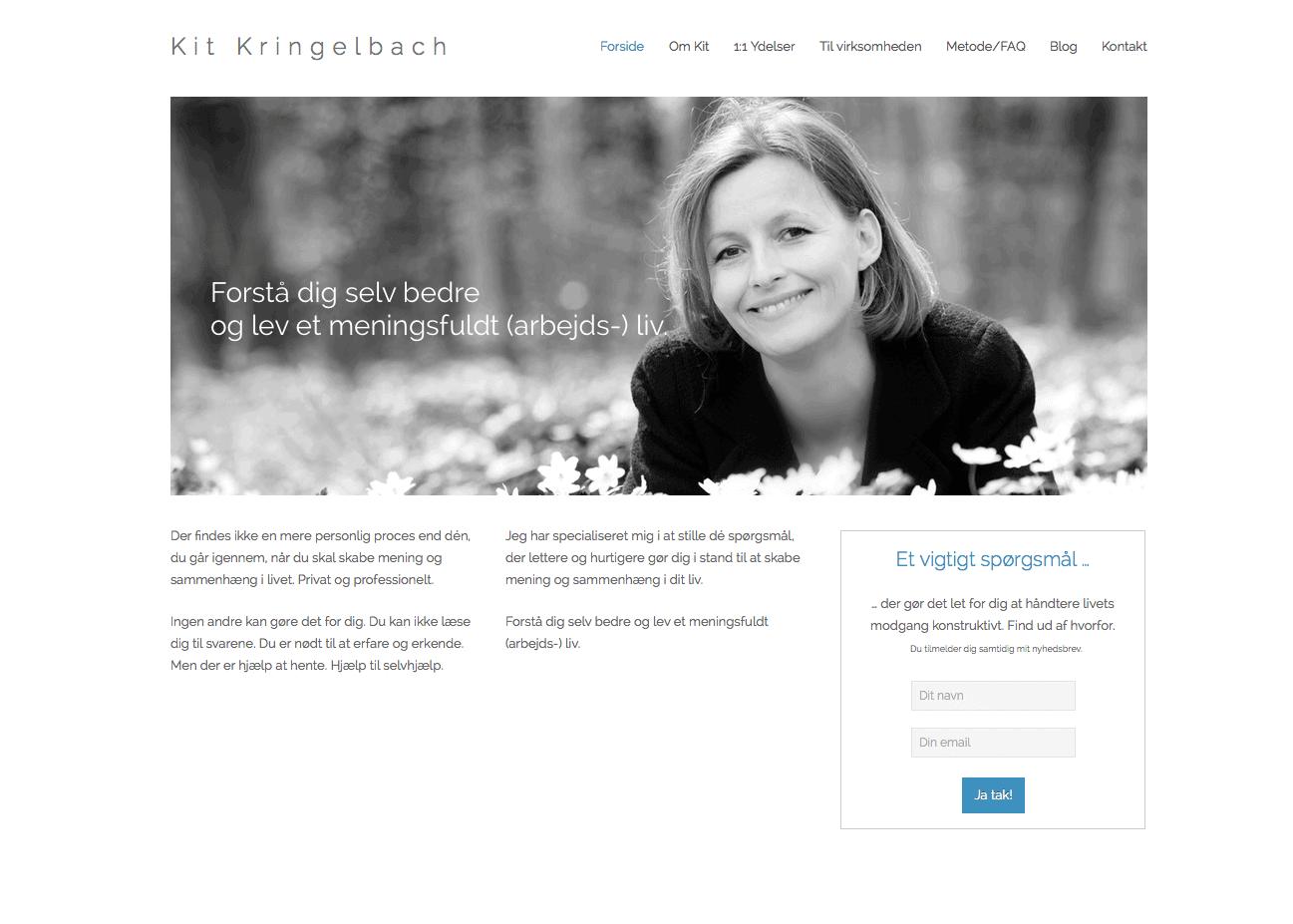 Bolette Obbekærs hjemmeside til Kit Kringelbach