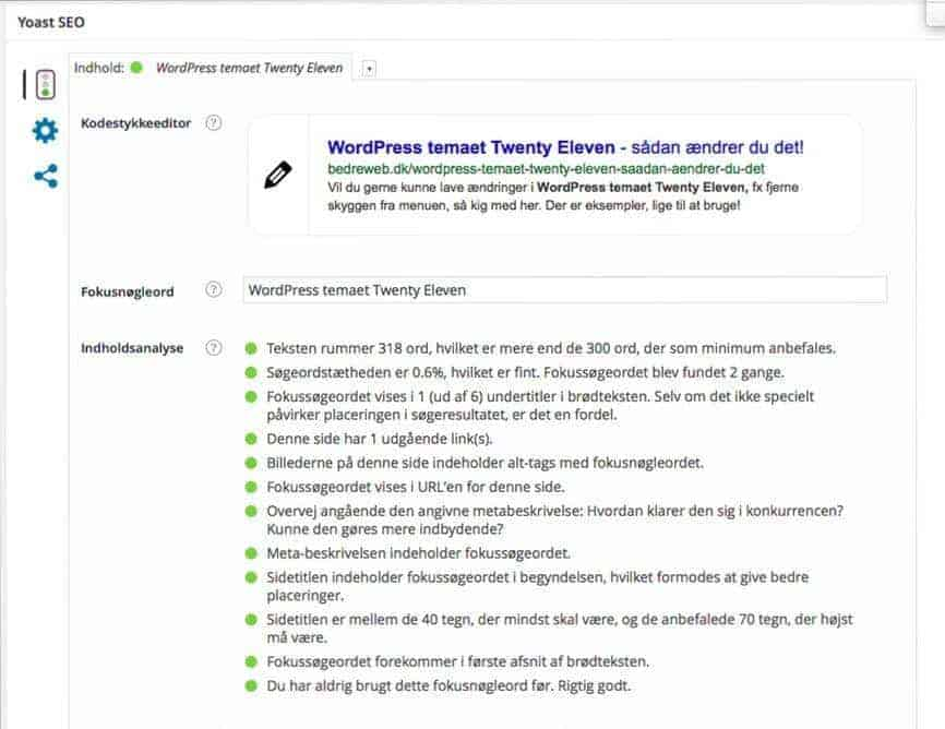 WordPress SEO med Yoast
