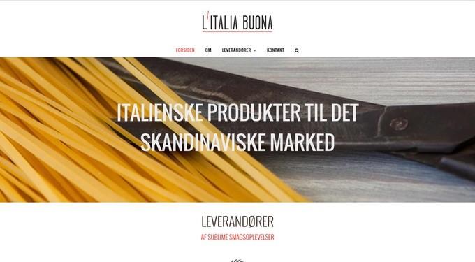 italiabuona.dk designet af Bolette Obbekær