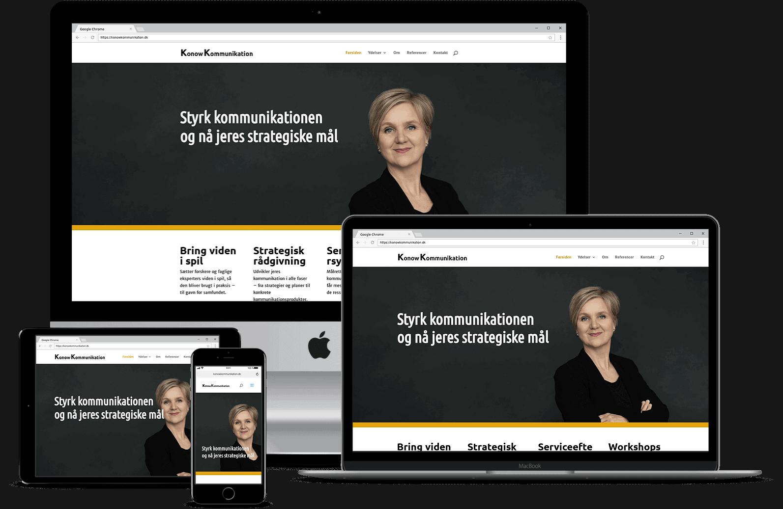 Konow Kommunikation - hjemmeside fra OBBEKÆR design & kommunikation