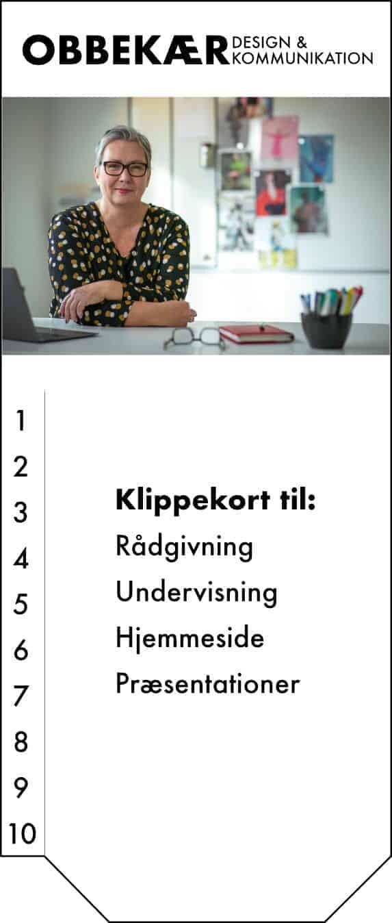 10-timers klippekort fra OBBEKÆR design & kommunikation